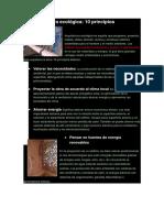 La Arquitectura Ecológica-10 PRINCIPIOS