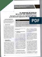 La Huelga en La Ley Del Servicio Civil - Autor Jose María Pacori Cari083