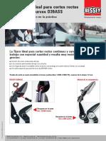 ERDI Tijera Ideal para cortes rectos continuos y curvos D39ASS