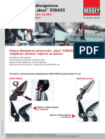 "ERDI Nożyce dźwigniowe uniwersalne ""ideal"" D39ASS"