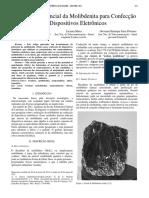 Estudo do Potencial da Molibdenita para Confecção de Dispositivos eletrônicos.pdf