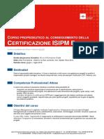 19LUGLIO16 Corso Propedeutico Al Conseguimento Della Certificazione ISIPM Base