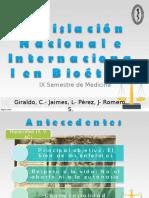 Legislación nacional e internacional en bioetica.ppt