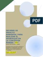 INFORME DE IMPACTO AMBIENTAL PARA REALIZAR EL DESBOSQUE EN PROYECTO