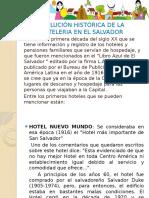 Evolución Histórica de La Hoteleria en El Salvador