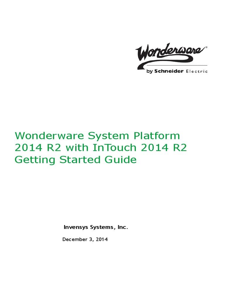 System Platform Getting Started | Web Server | Microsoft Sql
