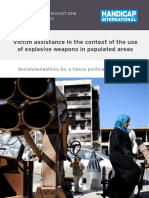 Victim Assistance in the Context of the Use of Explosive Weapons 2016 Web