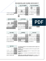 Calendari Escolar Curs 2016-2017 Insflix
