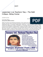 September 5 as Teachers' Day – the Dalit Critique_ Abhay Kumar _ Kafila