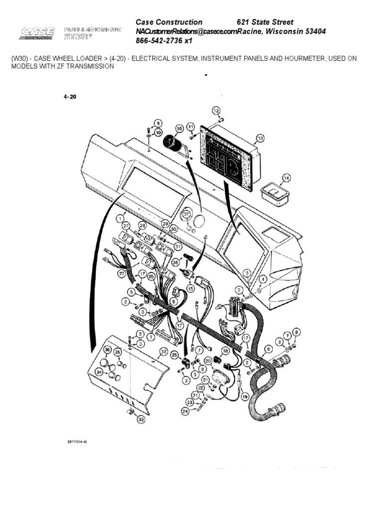 case 621 wiring diagram wiring library Xenon Wiring Diagram electrical system 2c instrument panels and hourmeter 2c used on models with zf transmission