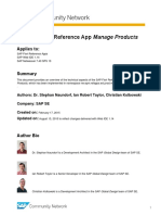 The SAP Fiori Reference App Manage Products