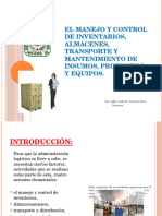 CLASE 4-El Manejo y Control de Inventarios, Almacenes