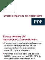 Erroes Congenito del Metabolismo