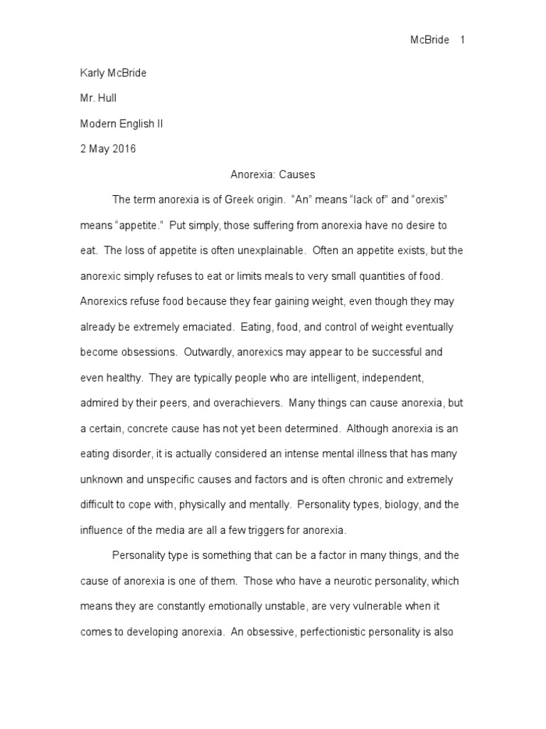 anorexia paper