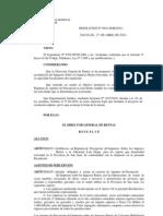 DGR SAN JUAN - Resolucion Nro 925 y 1163 Regimen de Percepcion