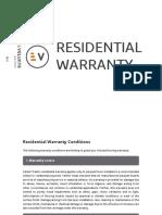 Warranty Residential 2015