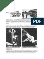 Calibrador VERNIER - Mi Mecánica Popular