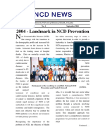 Landmark in NCD Prevention