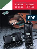 ICOM IC-F3G Series Brochure