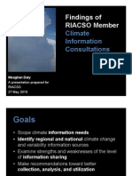 Findings of RIACSO Member