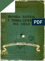Historia natural y Teoría General del cielo - Immanuel Kant