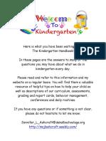 kindergarten handbook vanderlyn 16-17