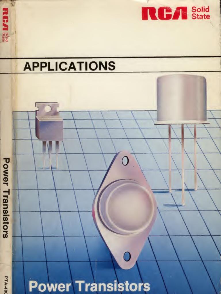 Rca Power Transistor Applications Manual Ocr Pn Junction Multivibrator Circuit Drives A Pair Of 2n3055 Transistors Semiconductors