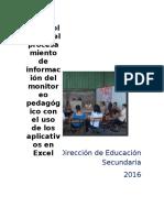 Protocolo Para El Procesamiento de La Información Con Los Aplicativos de Excel