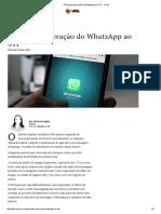 PPS Pediu Liberação Do WhatsApp Ao STF - JOTA