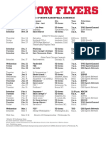 2016 17 Dayton Basketball Schedule