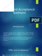 "Case Study on ""Offer & Acceptance, Bailment"""