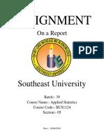 Report on Students' Socio-Economic Background