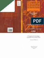 I. Wallerstein El Legado de la sociología
