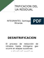 Desnitrificacion Del Agua Residual