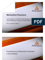 VA TPG TGP Matematica Financeira Aula 01 Tema 01