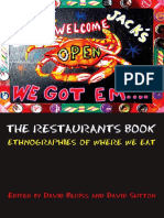 David Beriss, David Sutton the Restaurants Book- Ethnographies of Where We Eat