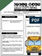 newsletter september 5-9