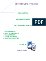 Word Trabajo Final