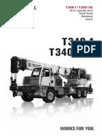 Manual Grúa Terex T340 - Terex Crane T340