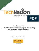 FLUKE 10 Best Practices for ESU Testing