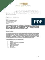"""INFORME DE PONENCIA PARA PRIMER DEBATE AL PROYECTO DE LEY 01 DE 2016 SENADO """"POR MEDIO DE LA CUAL SE CONVOCA A UN REFERENDO CONSTITUCIONAL Y SE SOMETE A CONSIDERACIÓN DEL PUEBLO UN PROYECTO DE REFORMA CONSTITUCIONAL POR LA CUAL SE CONSAGRA LA ADOPCIÓN DE MENORES SÓLO POR PAREJAS CONFORMADAS ENTRE HOMBRE Y MUJER."""""""