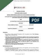 Judicial Review. Ingredients kenya