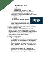 Planificacion Diaria Programa de Bandas 2016-2017