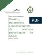 Gestión, tratamiento y almacenamiento de residuos nucleares