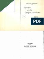 Emmanuel - Histoire de la langue musicale, I