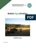 Boletin Agroclimatico Agosto