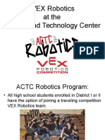 vex robotics parent meeting fall 2016