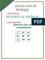 Informe Individual de Bio ( Ejercicio Monohíbrido)