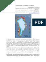 O degelo da Groenlândia e a subida do nível do mar