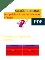 Acentuación General Fase general
